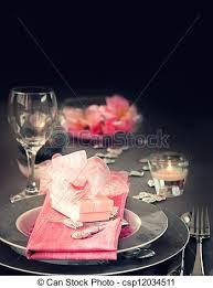 romantic table settings valentine day romantic table setting restaurant series stock