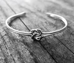 love knot bracelet images Double love knot cuff bracelet sterling silver bridesmaid jewelry jpg