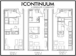 Studio Floor Plans Floor Plans The Continuum
