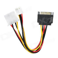 sata 15pin to 4pin 4pin power cable for ide devices black