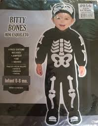 bitty bones infant toddler halloween costume child jumpsuit baby