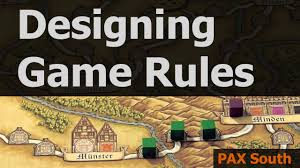 designing game rules pax south 2016 youtube