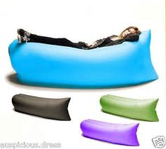 Bean Bag Sofa Bed by Blue Hangout Bean Bag Sleeping Lazy Lounger Beach Inflatable Air