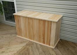 classic tall 5ft white cedar deck box 16154