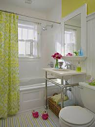 vintage bathroom with shower idea feat damask curtains with