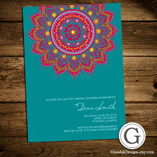 bridal shower invitation traditional henna mehndi design eid