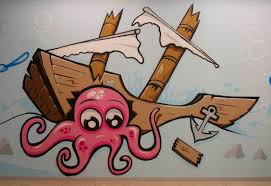Octopus Home Decor Home Décor U2013 Two By Two Graffiti Commissions