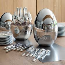 buy christofle mood cutlery egg set of 24 silver plated amara