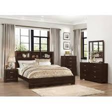 king bookcase storage bed set