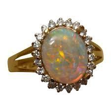 crystal opal rings images Red blue crystal opal diamond halo ring opal ring flashopal jpg