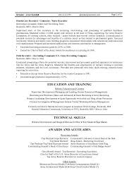 Sample Resume With Summary Statement by Military Executive Officer Sample Resume Example Of Letter Of