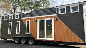 Modern Tiny Houses by Tiny House On Wheels Modern 2 Lofts L Shaped Kitchen Full Sized