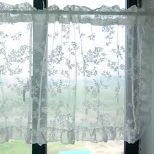 Small Bathroom Window Curtains Graceful Lace Kitchen Curtains Curtain Pinterest Bathroom