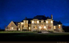 Luxury Exterior Homes - like that there u0027s some symmetry in front but varied detail on