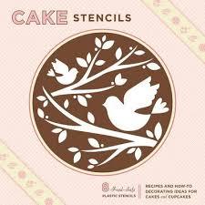 Cake stencil cake decorating kit