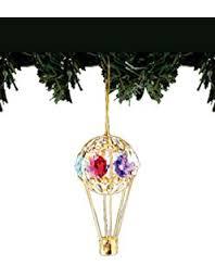violin 24k gold plated swarovski ornament