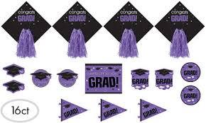 purple congrats grad graduation decorations city