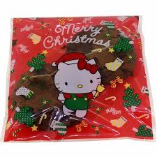 hello kitty cat christmas present cookie candy snack party favor