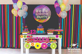 neon party ideas neon colors birthday party ideas photo 1 of 31 catch my party