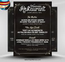 photoshop menu template free chalk board psd flyer template typography poster