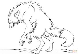 werewolf coloring pages free werewolf coloring page lineart