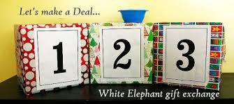 white elephant gift exchange let u0027s make a deal holidays