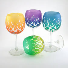 shop custom painted wine glasses on wanelo