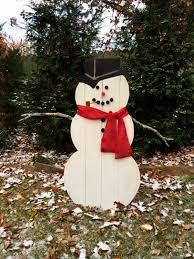 wooden snowman wooden snowman outdoor or indoor snowman