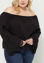 the shoulder black blouse plus cold shoulder tops rue21
