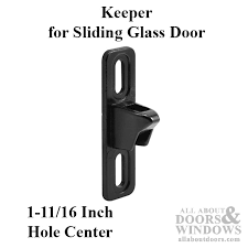 Patio Door Latch Black 3 4 Wide Keeper Strike For Sliding Patio Door Flush Mount