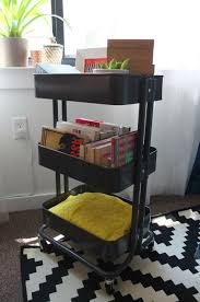 råskog utility cart small spaces need flexible solutions store everything from books to