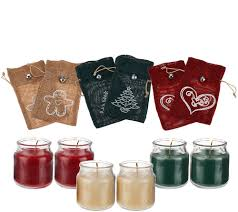 set of 6 2 5 oz candles with burlap gift bags by valerie page 1