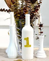 Diy Wine Bottle Vases Diy Wine Bottle Table Numbers