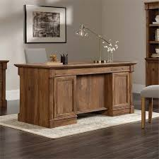 sauder palladia executive desk sauder palladia executive desk in vintage oak 420604