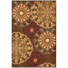 Rubber Backed Area Rugs by Ottomanson Ottohome Collection Contemporary Damask Design Brown 3