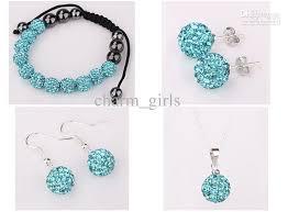 disco earrings retail 10mm disco jewelry suite earrings necklace bracelet