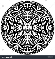 vector tribal ornamental circle reminiscent mayan stock vector