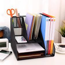 Desk Filing Organizer Creative Practical Desktop File Holder Tray Metal Filing Box