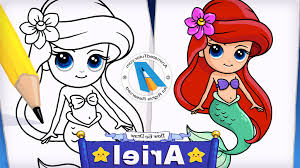 easy mermaid drawing animatedtutor draw mermaid ariel