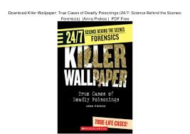 physicians desk reference pdf free download download killer wallpaper true cases of deadly poisonings 24 7 sci