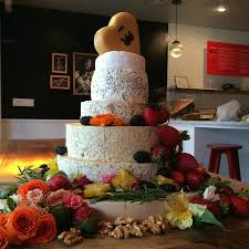 wedding cake made of cheese a signature of our shop a wedding cake made out of cheese