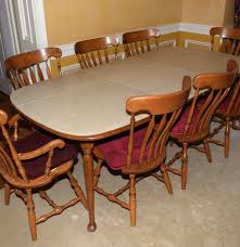 s bent hard rock maple dining table and chairs ebth s bent hard rock maple dining table and chairs