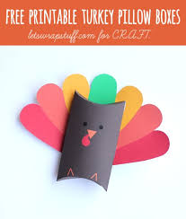thanksgiving crafts free printable turkey boxes c r a f t