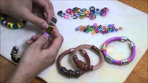 colored rubber bracelet images Using colorful rubber o rings on regaliz euro leather cord jpg