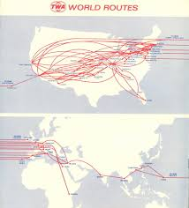Delta Route Maps by Twa 1972 Route Map Infographic Trans World Airlines All Things