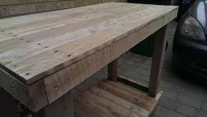 Plans To Make A Wooden Workbench by Pallet Workbench 7 Steps With Pictures