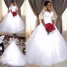 wedding dresses buy online discount 2018 sheer neck half sleeve a line wedding dresses south