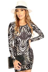 womens clothing party dresses white black long sleeves club wear