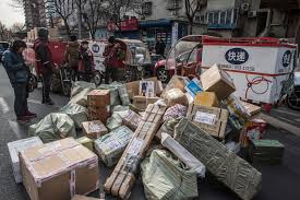 for couriers china u0027s e commerce boom can be a tough road the