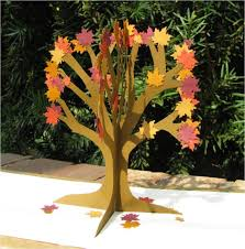 pop up origami tree inspiration major project design